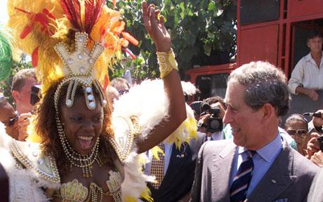 Prince Charles doing the Samba in Rio