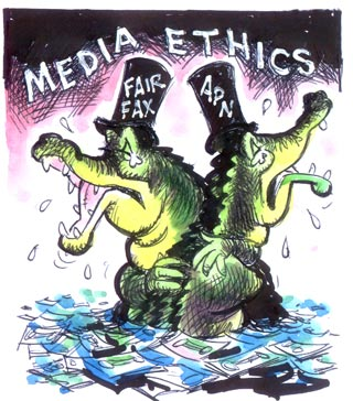 Media ethics in the third world - a tough balancing act? Photo courtesy of: http://www.pjreview.info/issues/11_02_05.html